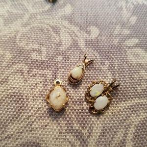 Jewelry - VINTAGE OPAL 12K GOLD FILLED GROUP PENDANTS
